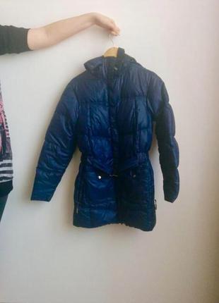 Зимняя дутая куртка на поясе с капюшоном columbia d10a69519a90b