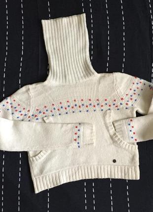 Укорочённый свитер с горлом шерсть оригинал