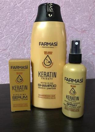 Набор keratin therapy по уходу за волосами