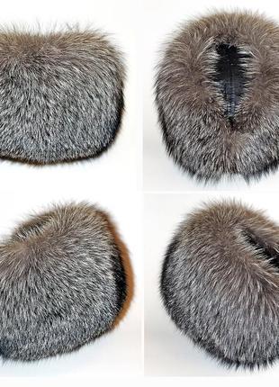 Шикарная меховая шапка из чернобурки