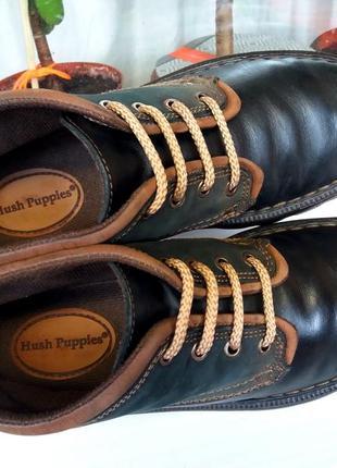 """Прочные прошитые мягкие кожаные ботинки """"hush puppies"""", сша, 42 р.!!!"""