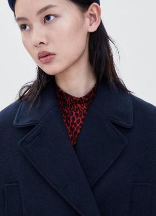 Стильное кашемир + шерсть пальто в стиле бойфренд