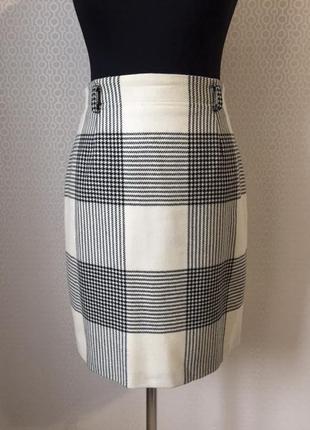 Оригинальная шерстяная юбка в клетку от betty barclay, размер нем 40, укр 46-48