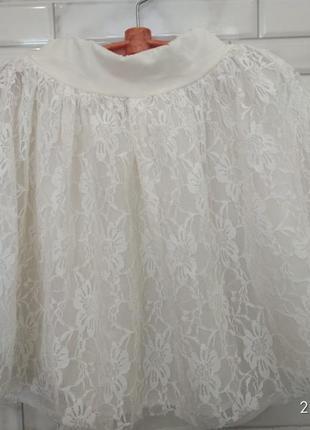 Красивая  гипюровая,кружевная,нарядная юбка