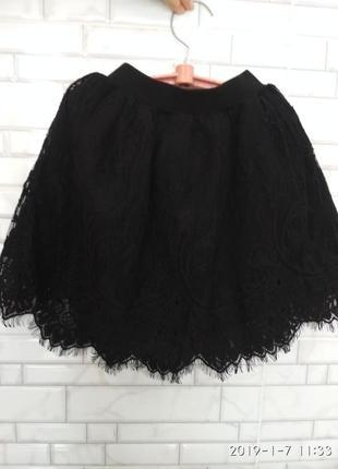 Красивая,нарядная,гипюровая юбка