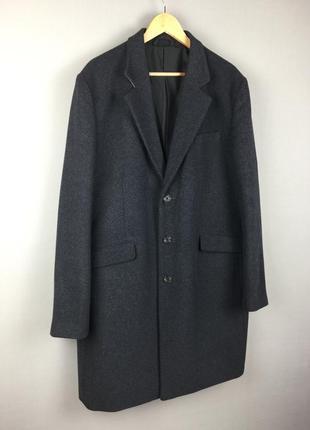 Шикарное шерстяное пальто asos мужское большой размер новое !