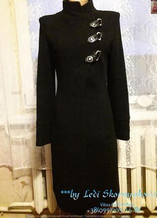 Классическое строгое пальто деми, размер с-ка