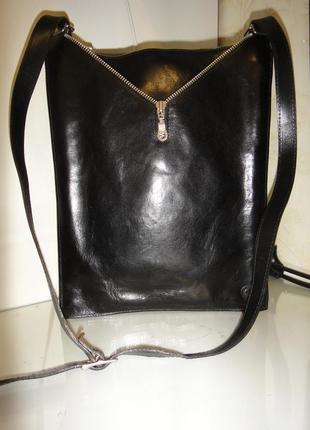Шикарная оригинальная сумка планшетка сreation gabrielle кожа