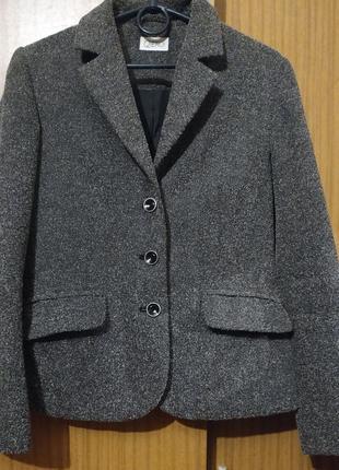 Классический блейзер, пиджак, елочка, qiero!, цвет меланж,s-m