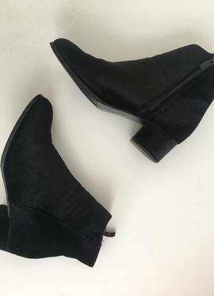 Ботинки бархатные чёрные ⭐️ трендовые ⭐️ размер 40