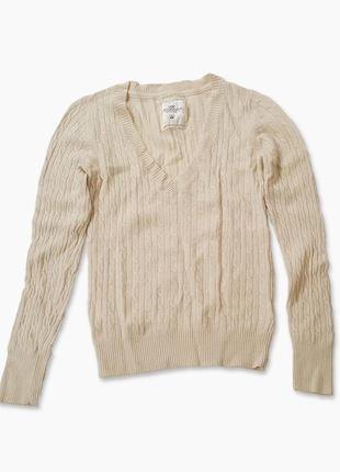 Джемпер с шерстью и ангорой на основе вискозы,  h&m, свитер в косы, разм 44-46