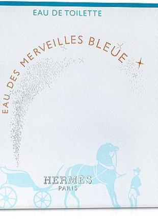 Hermes eau des merveilles bleue туалетная вода {пробник}, 2 ml, оригинал.