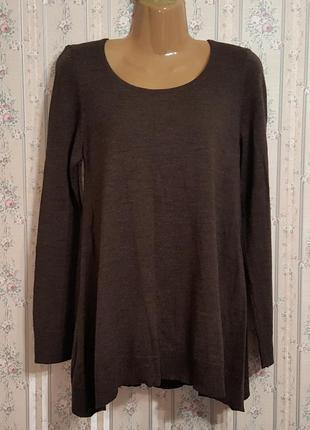 Шерстяное платье-туника- длинный свитер. разм. 46
