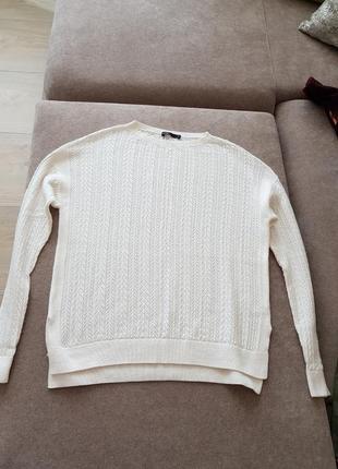 Джемпер лёгкий белый размер l