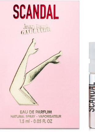 Jean paul gaultier scandal парфюмированная вода {пробник}, 1,5 ml, оригинал.