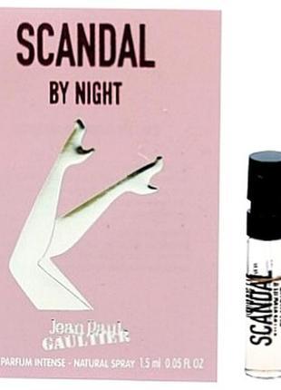 Jean paul gaultier scandal by night, edp, пробник, 1,5  ml, оригинал.