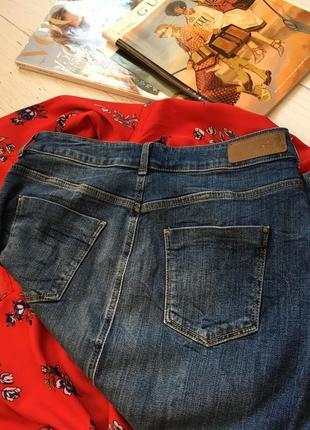 Трендовая джинсовая юбка миди на пуговицах m&s5