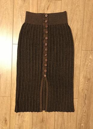 Теплая юбка на широкой резинке