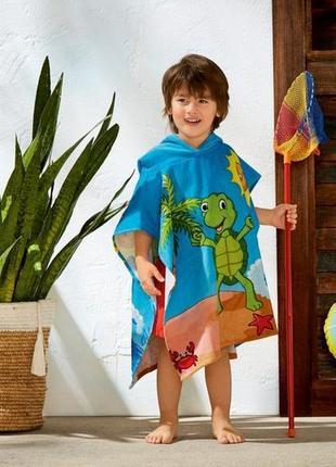 Детское полотенце-пончо с капюшоном crivit германия