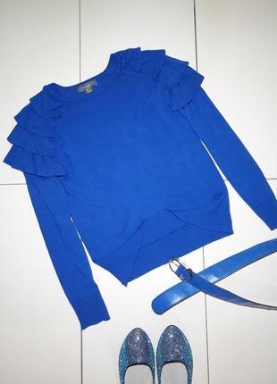 Стильный свитер джемпер с воланами primark