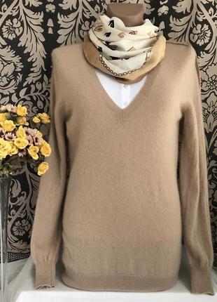 Кашемировый ♥️🎄♥️ джемпер свитер из кашемира zara, s-m.
