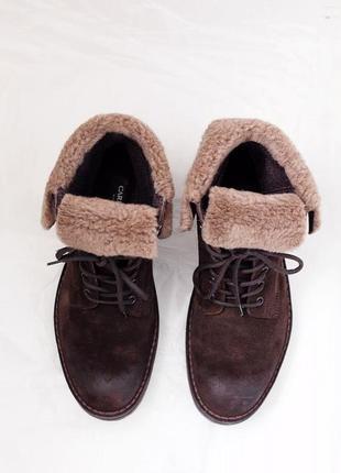 Ботинки замшевые зиминие carlo pazolini, р.40 на 39
