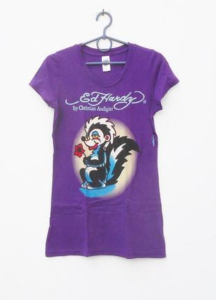 Брендовая хлопковая футболка с надписью с рисунком ed handy америка