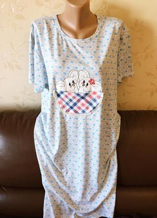 Туника платье для дома мышки, большой размер, 48-50