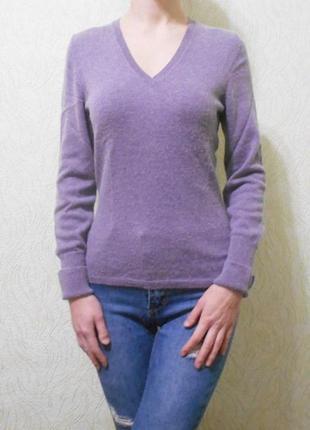 Зимний осенний свитер джемпер  с длинным рукавом шелк кашемир eric bompard