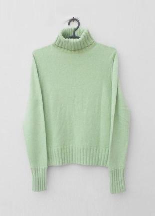 Осенний зимний вязаный 7% кашемировый 5 % ангоровый свитер под горло с длинным рукавом