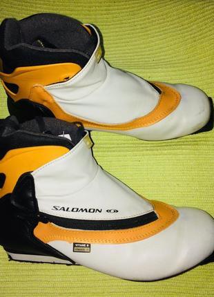 Ботинки лыжные «salomon».