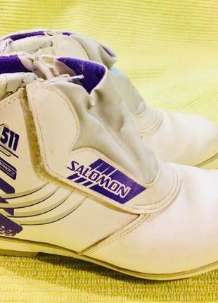 Ботинки лыжные «salomon».размер 39.