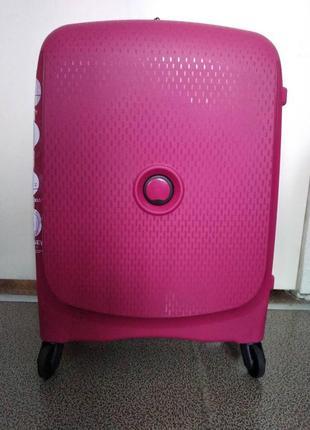 Чемодан пластиковый дорожный delsey belmont 3840803 розовый, 55 см