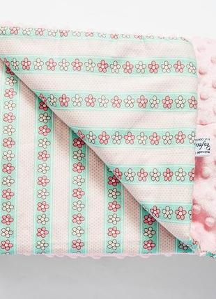 """Детский пледик (одеялко) """"розовый цветок"""" от 0 до 12 лет"""