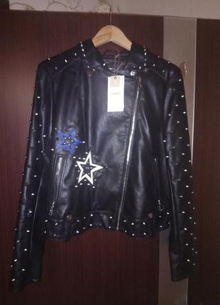 Стильный байкерский пиджак