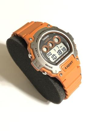 Наручные часы casio illuminator ( w-214h-4a orange )
