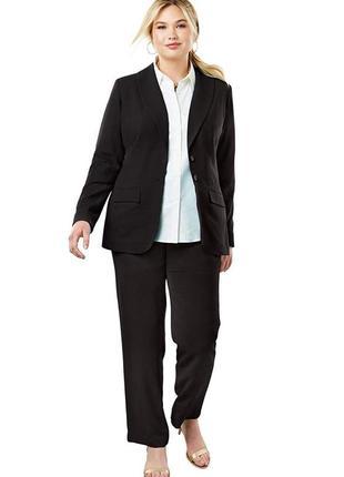 Стильный офисный коричневый классический костюм пиджак брюки next1