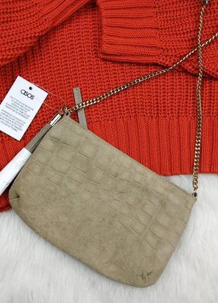 Asos сумочка рз натуральной кожи кожаная сумка кроссбоди