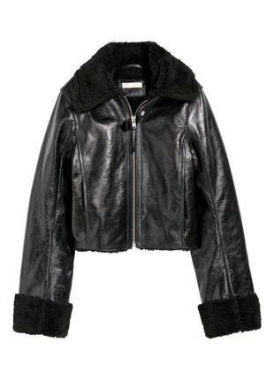 Куртка натуральная кожа  h&m