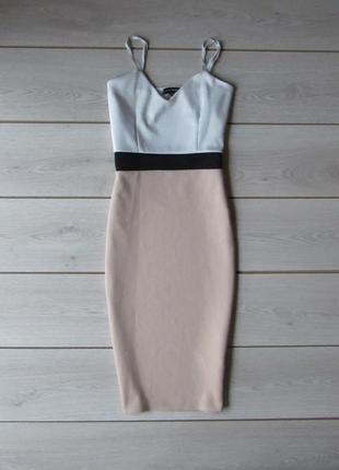 Шикарное приталенное платье миди от new look р. m-l