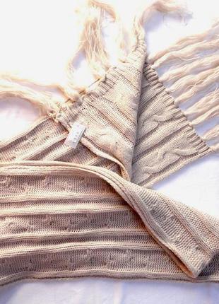 Красивый бежевый шарф beauty новый с этикеткой