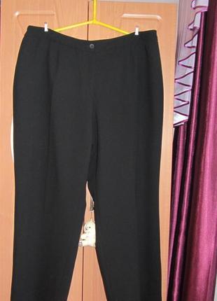 Черные свободные брюки,на подкладке,22р.(пот56см,поб80см)