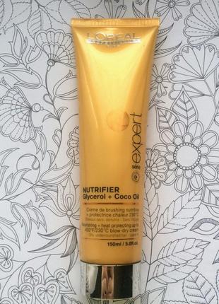 L'oreal professionnel nutrifier blow dry термозащитный крем для волос.