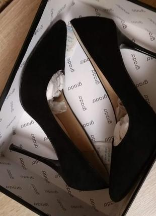 Замшевые туфли лодочки grado 37 размер