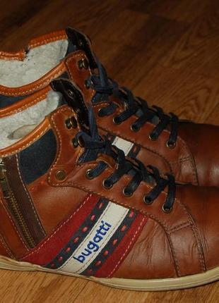 Кожаные ботинки утеплённые 44 р bugatti германия