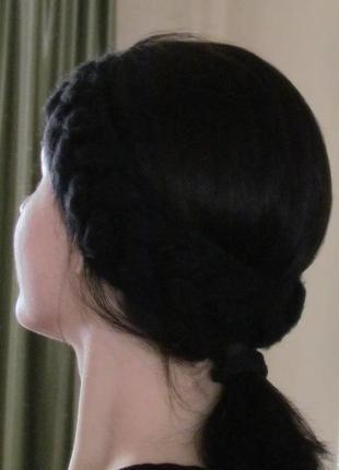 Вязаная повязка (шерсть)