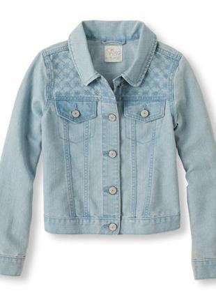 Стильный, практичный джинсовый пиджак на маленькую модницу
