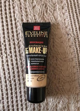 Eveline cosmetics art make-up тональный крем 3в1