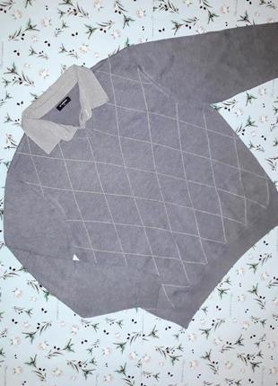 Стильный свитер с имитацией рубашки lc waikiki, размер 54-56, большой размер
