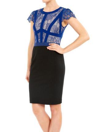 Шикарное платье по фигуре с кружевом от бренда almost famous размер s-m